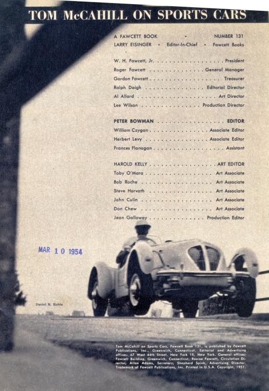 T McCahill on Sports Cars Staff